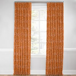 Burnt Orange Diamond Euro Pleated Curtains Close Up