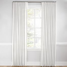 Warm White Gauzy Linen Euro Pleated Curtains Close Up