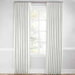 Cream Linen Euro Pleated Curtains Close Up