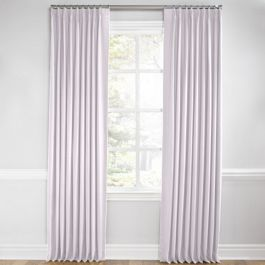 Light Purple Linen Euro Pleated Curtains Close Up