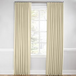 Cream Sunbrella® Canvas Euro Pleated Curtains Close Up