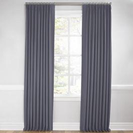 Gray Sunbrella® Canvas Euro Pleated Curtains Close Up
