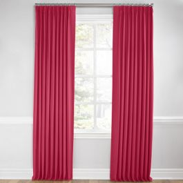 Hot Pink Sunbrella® Canvas Euro Pleated Curtains Close Up