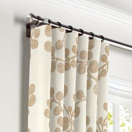 Gold Metallic Swirl Curtains with Pocket Close Up