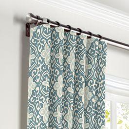 Aqua Moroccan Mosaic Curtains with Pocket Close Up