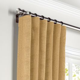 Metallic Gold Linen Curtains with Pocket Close Up