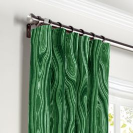 Marbled Green Malachite Curtains with Pocket Close Up