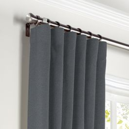 Warm Gray Velvet Curtains with Pocket Close Up