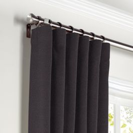 Charcoal Gray Velvet Curtains with Pocket Close Up