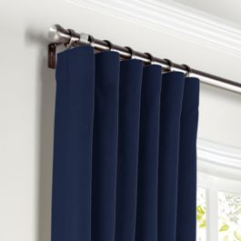 Navy Blue Velvet Curtains with Pocket Close Up