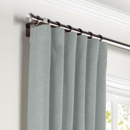 Light Gray Velvet Curtains with Pocket Close Up