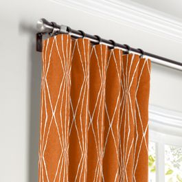 Burnt Orange Diamond Curtains with Pocket Close Up