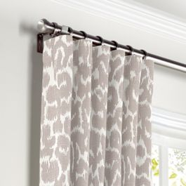 Gray & White Leopard Print Curtains with Pocket Close Up