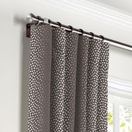 Dark Taupe Dotted Stripe Curtains with Pocket Close Up