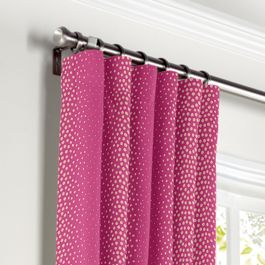 Hot Pink Dotted Stripe Curtains with Pocket Close Up