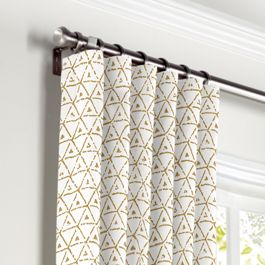 Beige Mudcloth Curtains with Pocket Close Up