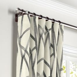 Black & White Abstract Stripes Curtains with Pocket Close Up