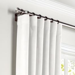 Warm White Gauzy Linen Curtains with Pocket Close Up