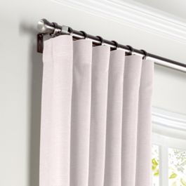 Pale Pink Linen Curtains with Pocket Close Up