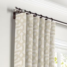 Light Tan Trellis Curtains with Pocket Close Up