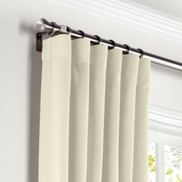 Ivory Sunbrella® Canvas Curtains with Pocket Close Up