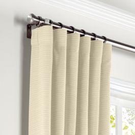 Cream Sunbrella® Canvas Curtains with Pocket Close Up