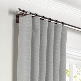 Flecked Gray Sunbrella® Canvas Curtains with Pocket Close Up