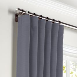 Gray Sunbrella® Canvas Curtains with Pocket Close Up