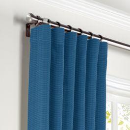 Royal Blue Sunbrella® Canvas Curtains with Pocket Close Up