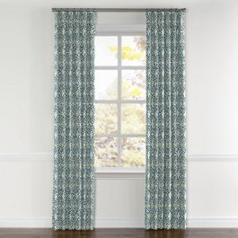 Aqua Moroccan Mosaic Curtains with Pocket Close Up