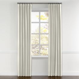 Ivory Lightweight Linen Curtains with Pocket Close Up