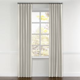 Cream Slubby Linen Curtains with Pocket Close Up
