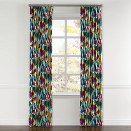 Multicolor Watercolor Curtains with Pocket Close Up