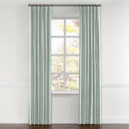 Handwoven Aqua Stripe Curtains with Pocket Close Up