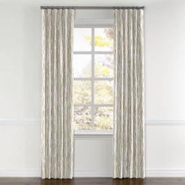 Tan & Brown Chalk Line Curtains with Pocket Close Up