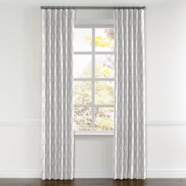 Embroidered Gray Diamond Curtains with Pocket Close Up
