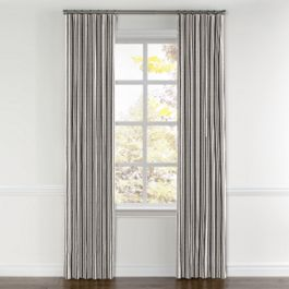 Rustic Gray Stripe Curtains with Pocket Close Up