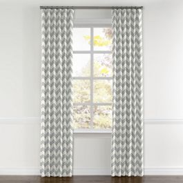 Light Gray Chevron Curtains with Pocket Close Up