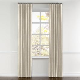 Golden White Metallic Linen Curtains with Pocket Close Up