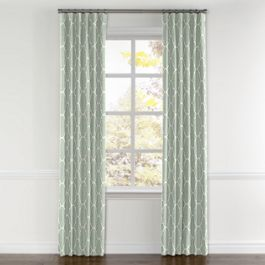 Sea Green Quatrefoil Curtains with Pocket Close Up