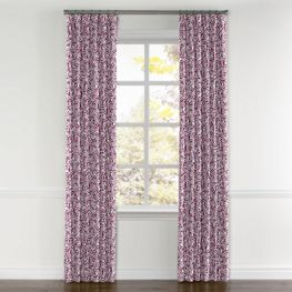 Seafoam & Purple Scallop Curtains with Pocket Close Up