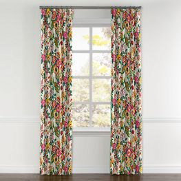Candy-Colored Chinoiserie Curtains with Pocket Close Up
