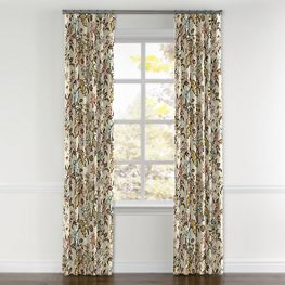 Light Pink Chinoiserie Vase Curtains with Pocket Close Up