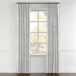 Silver Faux Bois Curtains with Pocket Close Up