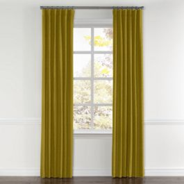 Chartreuse Green Velvet Curtains with Pocket Close Up
