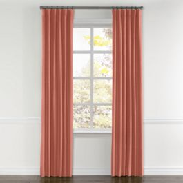 Coral Pink Velvet Curtains with Pocket Close Up