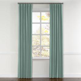 Seafoam Aqua Velvet Curtains with Pocket Close Up