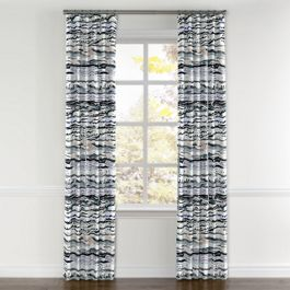 Blue & Purple Abstract Curtains with Pocket Close Up