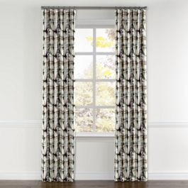 Black & White Shibori Curtains with Pocket Close Up