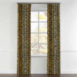 Velvet Leopard Print Curtains with Pocket Close Up
